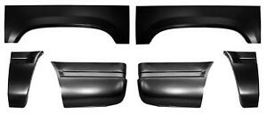Wheel Arch Front Rear Quarter Panel Lower Kit For 92 99 Chevy Gmc Suburban