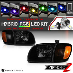 bluetooth Rgb Led For 00 04 Toyota Tundra Black Smoked Replacement Headlight