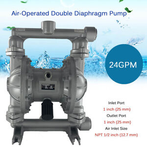 Air operated Double Diaphragm Diaphram Pump 1 For Industrial Use Qbk 25l 24gpm