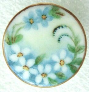 Antique Porcelain China Hand Painted Stud Button Cd Ab