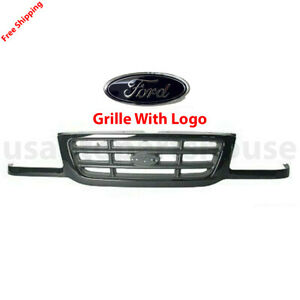 New For Ford Ranger Pickup Front Grille With Logo Black Fits 2001 2003 Fo1200393