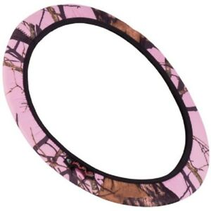 Pink Mossy Oak Camouflage Neoprene Steering Wheel Cover Camo Auto Truck Car