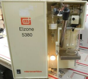 Elzone Micromeritics 5380 Particle Size Analyzer counting Sizing Materials