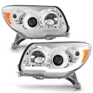Chrome Clear Led Neon Tube Drl Projector Headlight Lamp For 06 09 Toyota 4runner