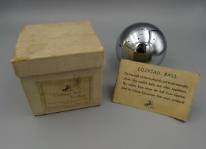 Vintage Art Deco Chrome Chase Cocktail Ball Russel Wright In Box