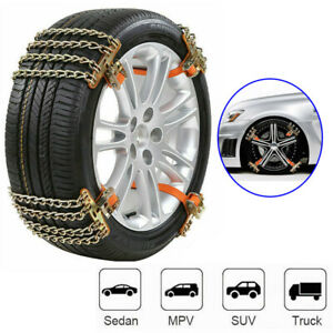 Wheel Tire Snow Anti Skid Chains For Car Truck Suv Emergency Winter Universal Us Fits Chevrolet