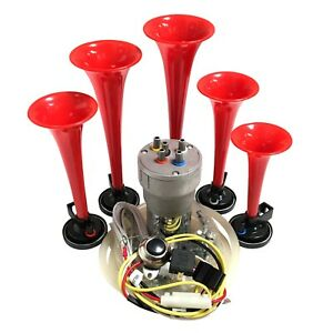 Dixie Car Air Horns Red Dukes Of Hazzard With Horn Button And Install Kit