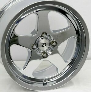 17 Chrome Mustang Saleen Sc Replica Wheels Deep Dish 17x8 17x9 4x108 79 93 Fox