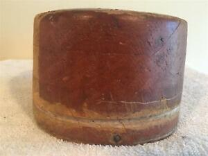 Millinery Wooden Hat Block Square Crown Wood Block Hat Making Form Mold Brim