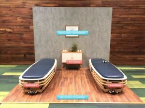 Trade Show Booth 10 X 10 Back Wall And Floor With Two 8 Display Stands