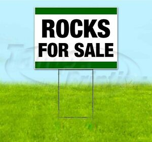 Rocks For Sale 18x24 Yard Sign With Stake Corrugated Bandit Business Landscaping