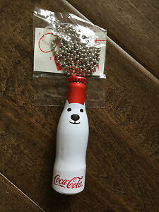 2017 COCA COLA COKE POLAR BEAR MINI METAL ALUMINUM BOTTLE RARE PROMO W KEY CHAIN