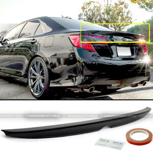 Fit 12 14 Camry Le Se Xle Jdm Style Glossy Black Painted Trunk Wing Lip Spoiler