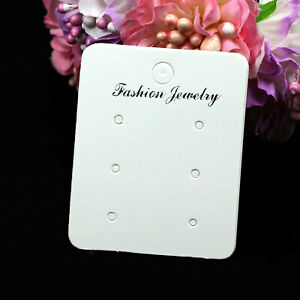 100pcs Board Display Holder Earring Cards Jewelry Accessories Cardboard Paper