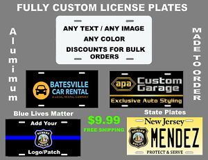 Personalized Aluminum Custom License Plate Customize With Text And Or Picture