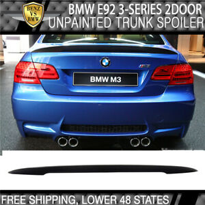 07 13 Bmw E92 2dr Coupe Performance High Kick P Sty Unpainted Abs Trunk Spoiler