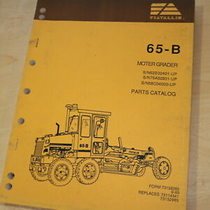 Allis Chalmers 65b Motor Grader Parts Manual Book Catalog Spare Road Owner Plow