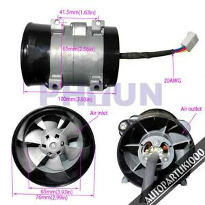 Dc 12v Car Electric Turbine Power Turbo Charger Boost Air Intake Fan W Control