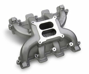 Holley Midrise Intake Manifold Gm Ls1 Ls2 Ls6 Cathedral Port Head Heads 300 130