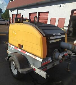 Dyna Prime Water Pump 6 Trash Trailer Mounted Diesel Engine