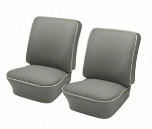 1954 1955 Volkswagen Vw Bug Oem Classic Seat Upholstery Front Only Gray