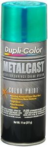 Duplicolor Mc203 Green Anodized Paint Gloss Metal Cast 11oz High Heat Coating
