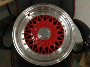 16 Red Silver Rs Style Rims Wheels Fits Honda Civic 4x100 4x114 Crx Del Sol