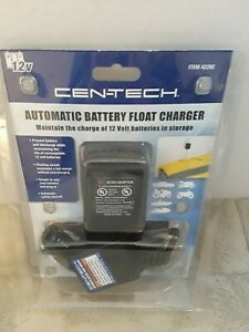 12v Cen Tech Automatic Battery Float Charger 42292 New