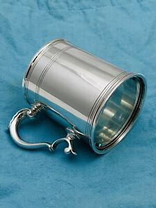 Antique Rare Tiffany Co Sterling Silver Mug With Glass Bottom 21968