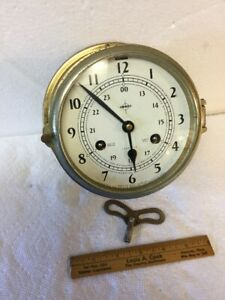 Vintage Swift Anderson Ships Bell 8 Day Brass Clock Made In Germany By Schatz