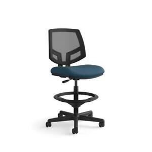 Hon Volt Mesh Back Task Stool With Extended Height Footring In Navy Fabric