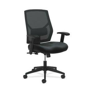 Hon Crio High back Leather Mesh Back Computer Chair In Black