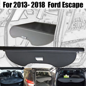 Fit For 2013 2019 Ford Escape Security Cargo Cover Area Retractable Shade Shield