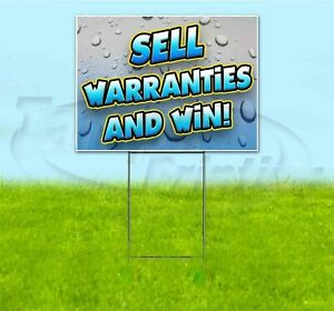 Sell Warranties And Win 18x24 Yard Sign With Stake Corrugated Bandit Business