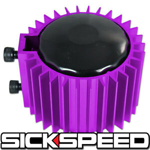 Purple Engine Oil Filter Cooler Heat Sink Cover Cap Billet Aluminum Kit Ef Eg