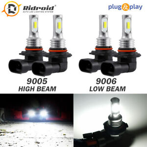 Amazing Combo 9005 9006 Led Headlight Bulbs Kit High Low Beam Canbus 40w 6000k
