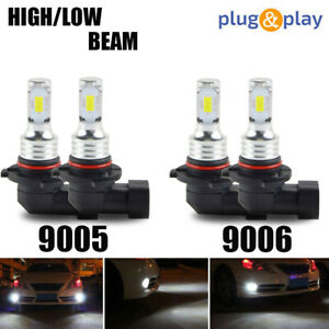 Amazing Combo 9005 9006 Led Headlight Bulbs Kit High low Beam Canbus 80w 6000k