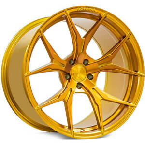4 20 Rohana Wheels Rfx5 Gloss Gold Rims b1