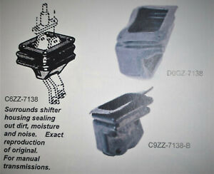 65 68 Ford Mustang Or Cougar Lower Shift Boot 4 Speed C6zz 7138c