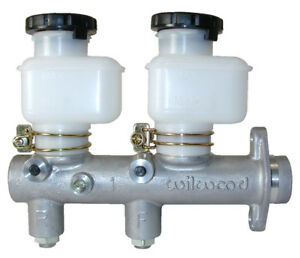 Wilwood 260 8794 Master Cylinder Alloy Natural Dual Plastic Bowls 1 Bore