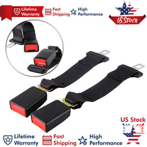 2 Pcs Buckle Car Seat 14 Seatbelt Safety Extender Belt Extension 7 8 For Gmc