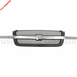 New For Chevrolet Silverado 2500 Fits 2003 2006 Front Grille 19168629 Gm1200489