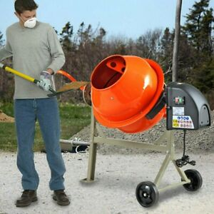 Portable Electric Concrete Cement Mixer 2 1 5cuft Stucco Mortar Barrow Machine