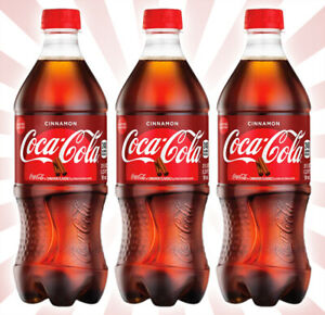 3 Coca-Cola Cinnamon Coke LIMITED EDITION American Soda Bottle Fresh 20 OZ
