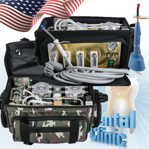 Portable Dental Unit With Air Compressor Bag Suction System Oral Care Machine Us