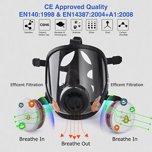 Safeyear Safety Mask Respirator Full Face Painting Spraying Welding Universal Us