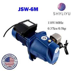 Shyliyu 110v 1 2hp Shallow Well Jet Pump W Pressure Switch Garden Irrigation Us