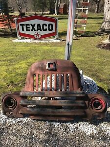Rare Vintage 1940s International Truck Grill W Light Sockets Man Cave Wall Art