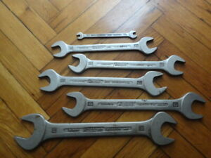 Vintage Hazet 450 Spaner Wrench Lot Of 6 Wrenches