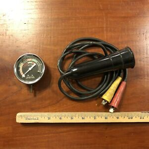Antique Timing Light And Vacuum Gauge Vtg Auto Repair Classic